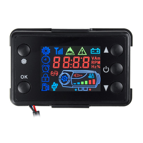 Parking Controller Air Diesel Heater LCD Switch W/4 Button Remote Control