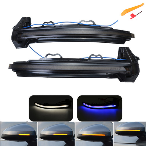 Pair Dynamic Mirror Turn Signal Light Indicator For Audi B9 A4 A5 S4 S5 RS4 RS5