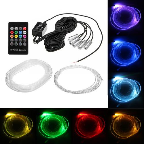 RGB LED Car Interior Atmosphere Lamp Optical Fiber Neon EL Strip Light Kit Phone APP Remote Control Sound Active