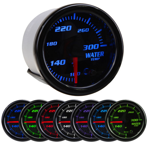 Universal 2Inch 52mm 7 Colors LED Car Water Coolant Temperature Temp Gauge Meter