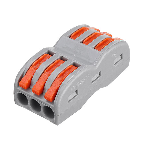 Excellway 3Pin Wire Docking Connector Termainal Block Universal Quick Terminal Block SPL-3 Electric Cable Wire Connector Terminal 0.08-4.0mm