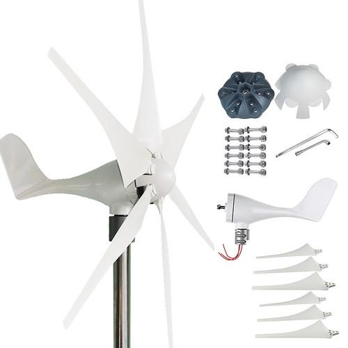 True Power 200W 12V/24V 3/5/6pcs Blades Wind Turbine Generator Charger Controller Home Power