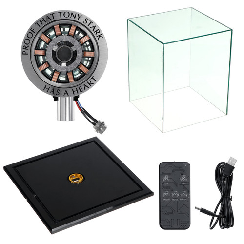 MK2 Remote Control Version DIY Arc Reactor Model Men Heart Kit LED Chest USB Movie Props Light With Display Cover