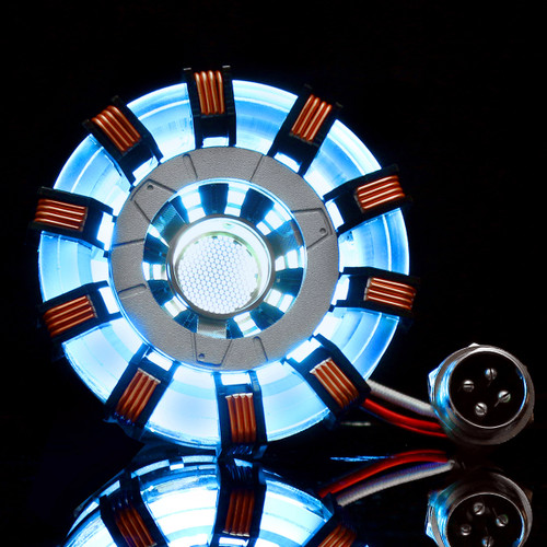 MK2 Acrylic Tony ARC Reactor Model DIY Kit USB Chest Lamp Movie Props Illuminant LED Flash Light Set Gift