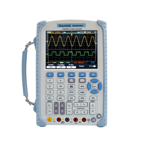 Hantek DSO8060 Handheld Oscilloscope DMM Spectrum Analyzer Frequency Counter Waveform Generator