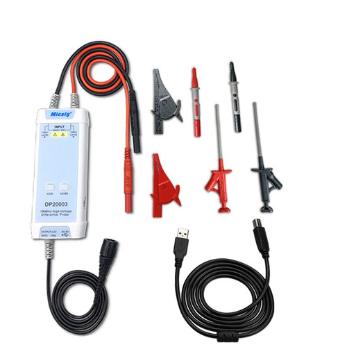 Micsig Oscilloscope 5600V 100MHz High Voltage Differential Probe DP20003 Kit 3.5ns Rise Time 200X / 2000X Attenuation Rate