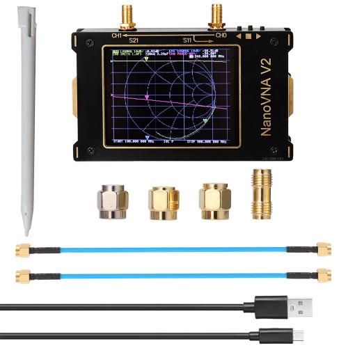 LZNanoVNA V2 50KHz-3GHz Vector Network Analyzer 3.2 Inch Digital Nano VNA Tester MF HF VHF UHF USB Antenna Analyzer Standing Wave