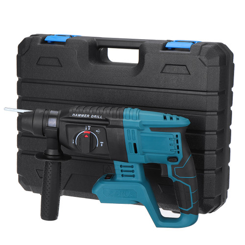 Electric Cordless Demolition Jack Hammer Impact Drill Concrete Breakers Punch Kit For 18V Makita battery