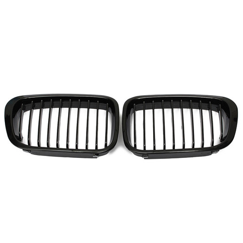 Gloss Black Grill Grille For BMW 3  - Shop at topsystems.gr