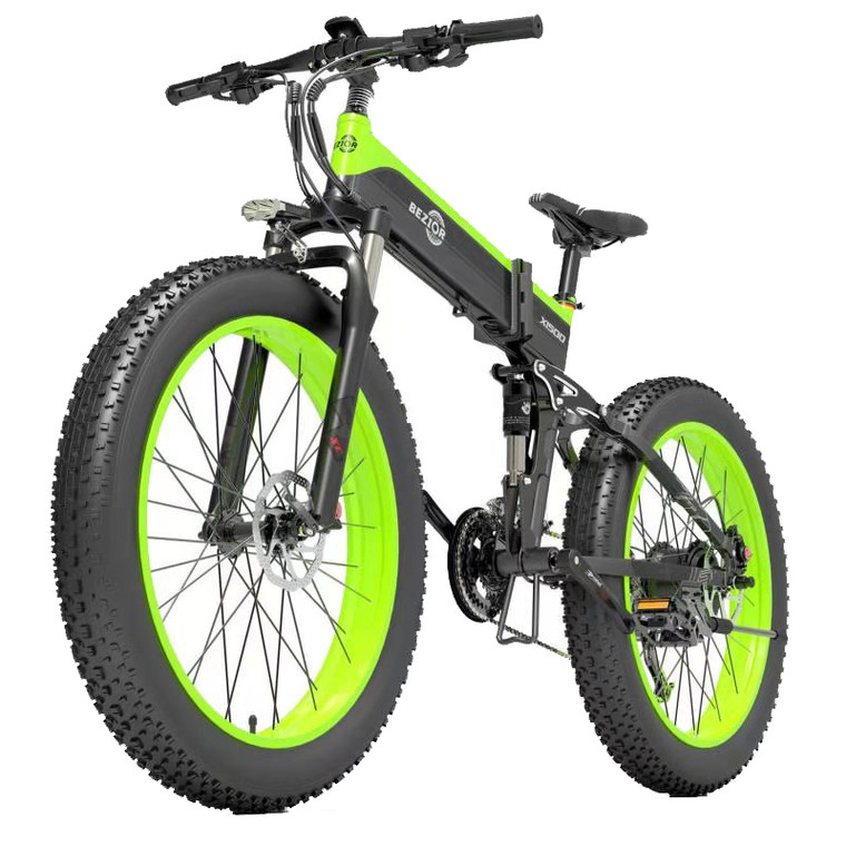 [EU DIRECT] Bezior X1000 12.8Ah 48V 1000W Folding Moped Electric Bicycle 26inch 40Km/h Top Speed 100km Mileage Range Max Load 200kg