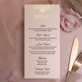 Rose & Gold Menu