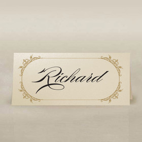 ornate frame ivory place cards