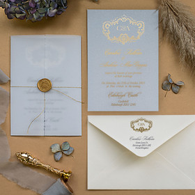 Venice Vellum Powder Blue & Gold
