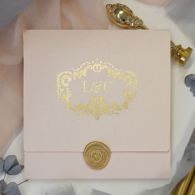 Venice Pink & Gold Wedding Invitations