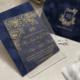 Sample of Roses Navy Blue & Gold