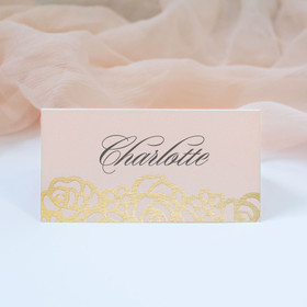 Rosie Pink & Gold Place Card