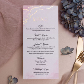 Rose Quartz Menu