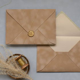 Light Brown Velvet Envelope