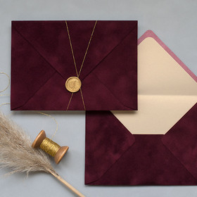 Burgundy Envelopes