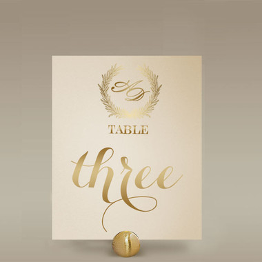 Name Table Cards - Ivory & Gold Elegance