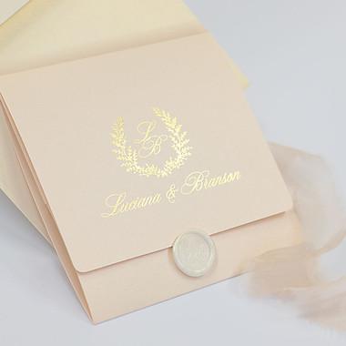 Sample of Laurel Pink & Gold