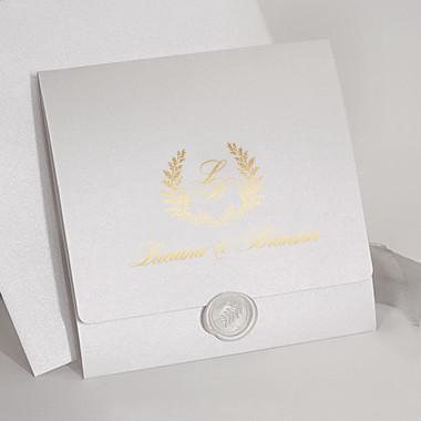 Sample of Laurel White & Gold