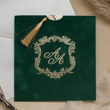 green velvet wedding invitations