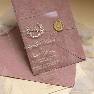 Sample of Tea Rose Leather & Glass