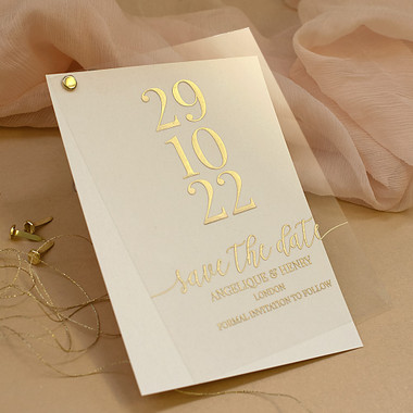 Acrylic Save the Date cards