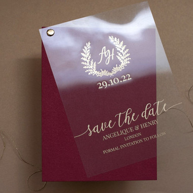 Monogram SD Burgundy sample