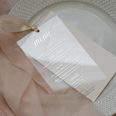 Acrylic Blush Pink & Silver Menu