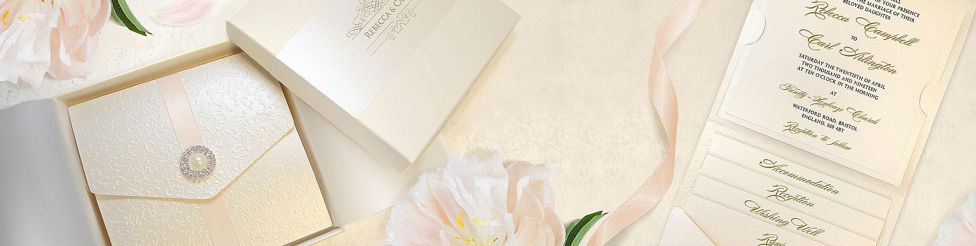 Luxury Pocketfold Wedding Invitation - Virginia