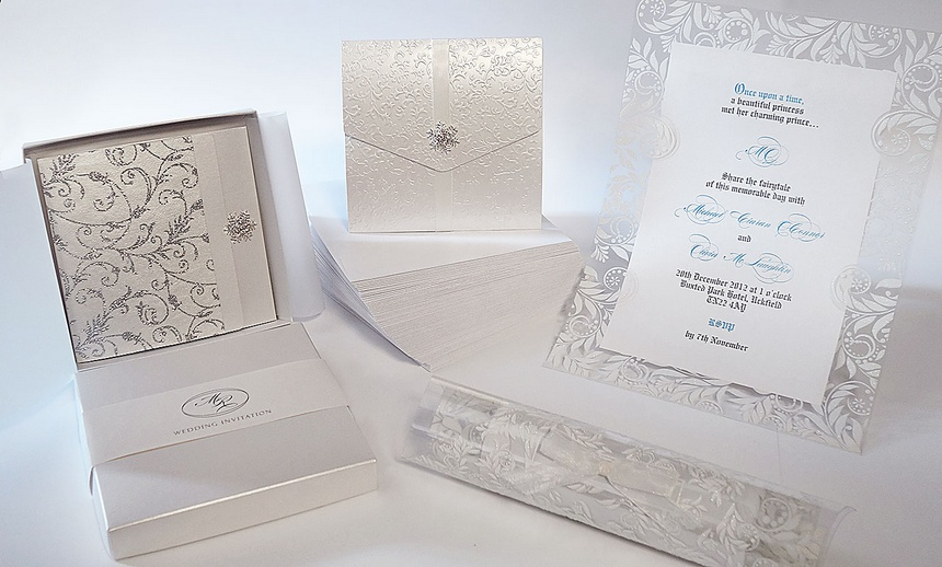 winter wedding invitations snowflake invites polina perri uk