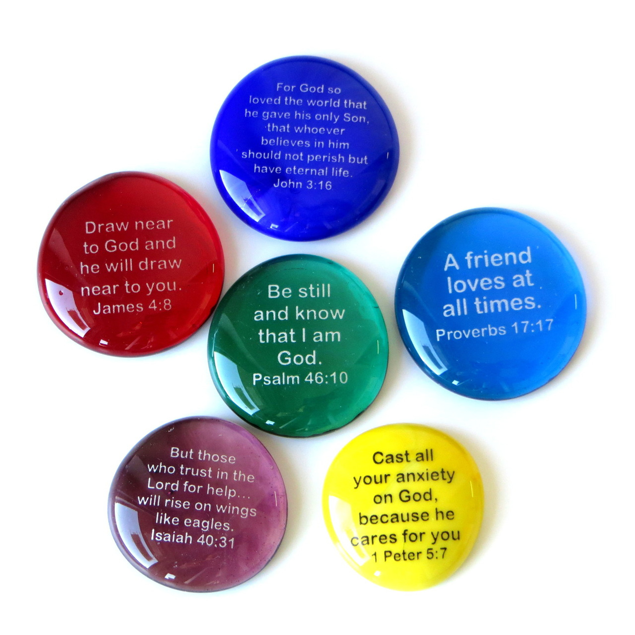 Scripture Stones I, set of six