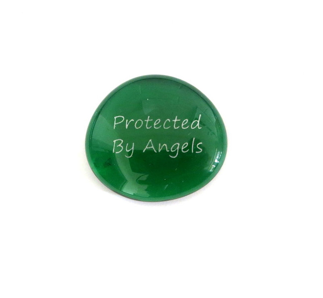 Protected By Angels... Glass Stone From Lifeforce Glass