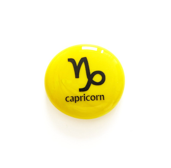 Capricorn glass stone from Lifeforce Glass, Inc.