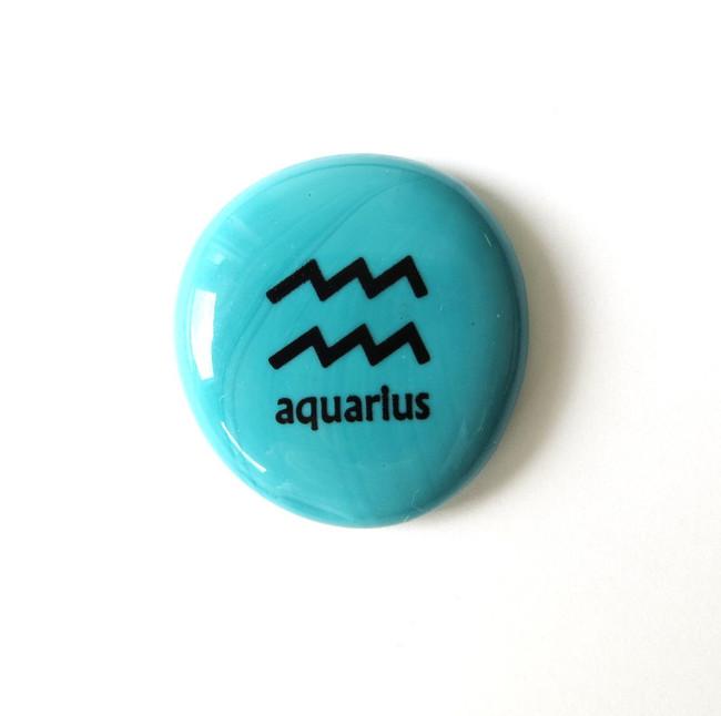 Aquarius glass stone from Lifeforce Glass, Inc.