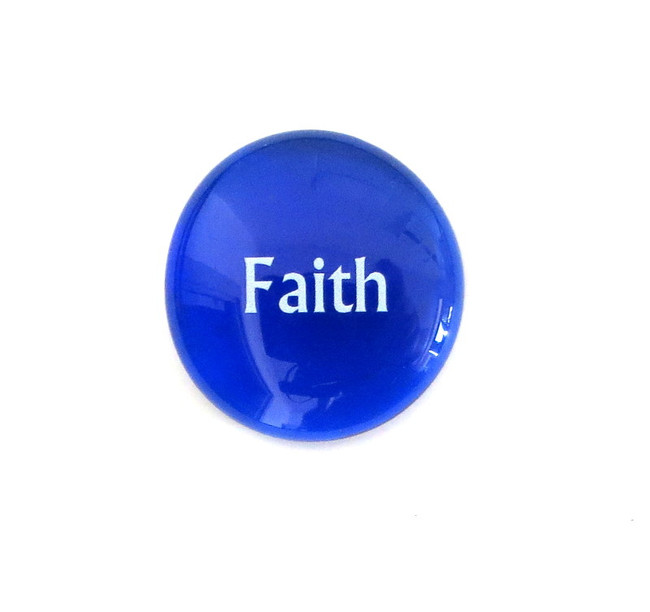 12 Powers- Faith... Glass Stone from Lifeforce Glass