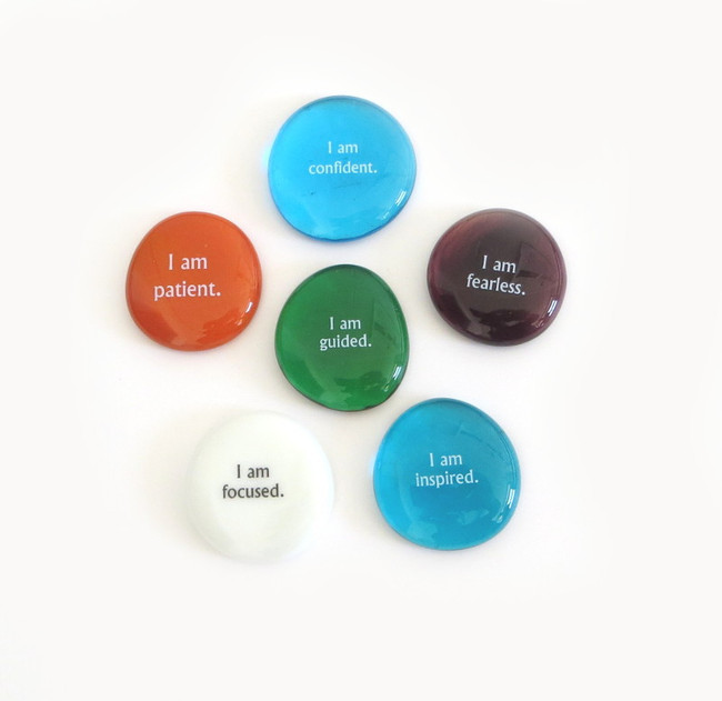 Affirmation I Stones, set of six... From Lifeforce Glass