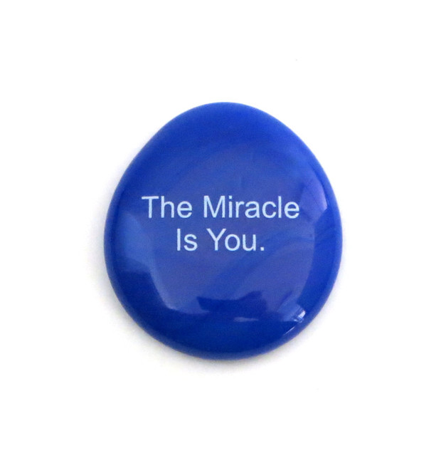 The miracle is you... Glass Stone From Lifeforce Glass