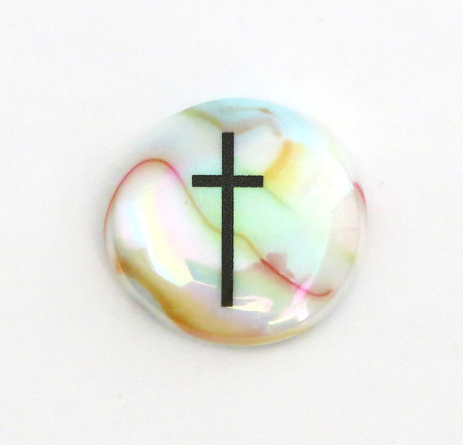 Festival Glass Cross from Lifeforce Glass, Inc.