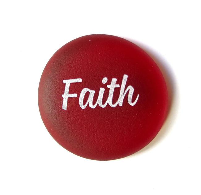 Sea Stone, Faith, from Lifeforce Glass, Inc.