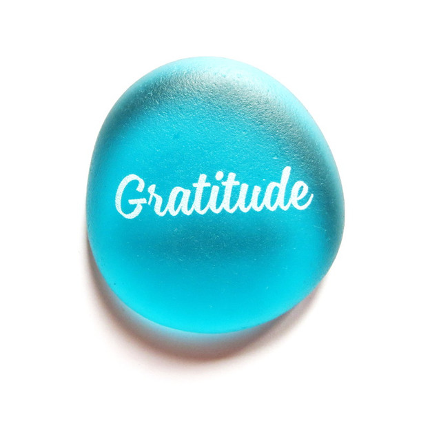 Sea Stone, Gratitude, from Lifeforce Glass, Inc.