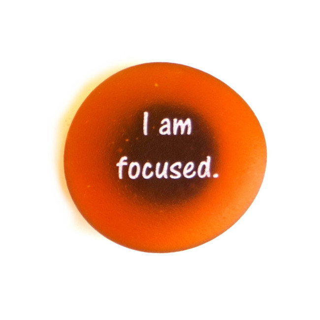 Affirmation Magnet, I am focused. By Lifeforce Glass, Inc.