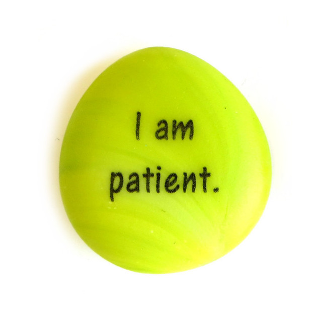 I am patient Affirmation Magnet from Lifeforce Glass, Inc.