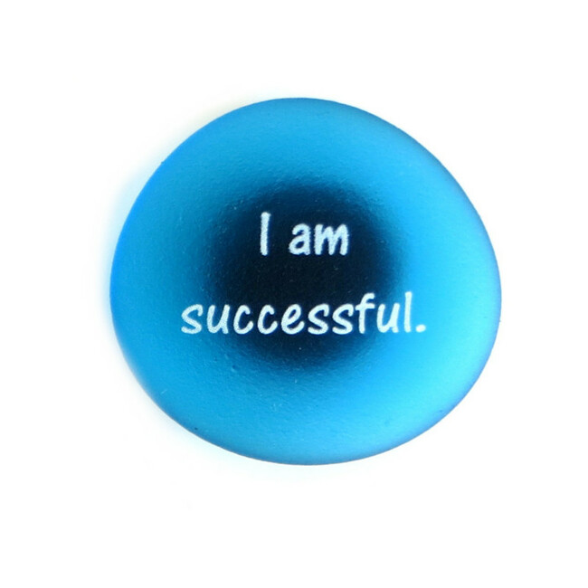I am successful Affirmation Magnet from Lifeforce Glass, Inc.