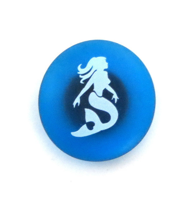 The Mermaid's Message Magnet, Mermaid. By Lifeforce Glass, Inc.