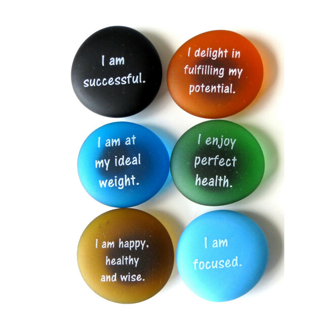 Affirmation Magnets Set IV, set of six... From Lifeforce Glass