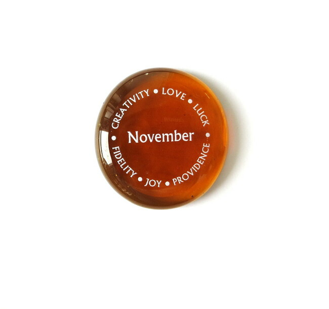 November Birthstone from Lifeforce Glass, Inc.