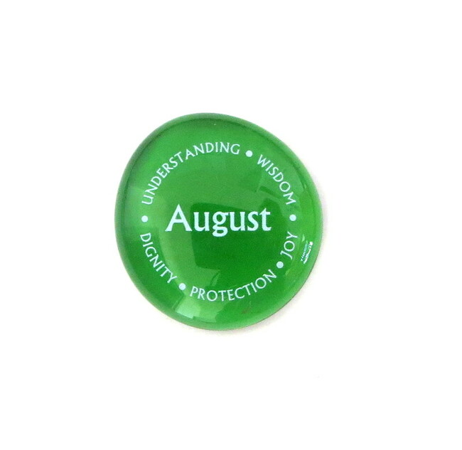 August Birthstone... Glass Stone from Lifeforce Glass